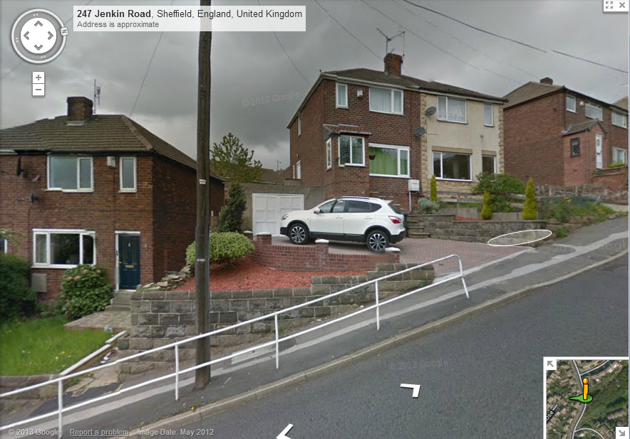 Google Street View for Jenkin Road Sheffield
