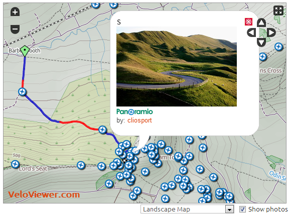 Panoramio Photos In VeloViewer