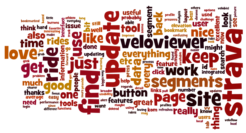VeloViewer SUS Wordle
