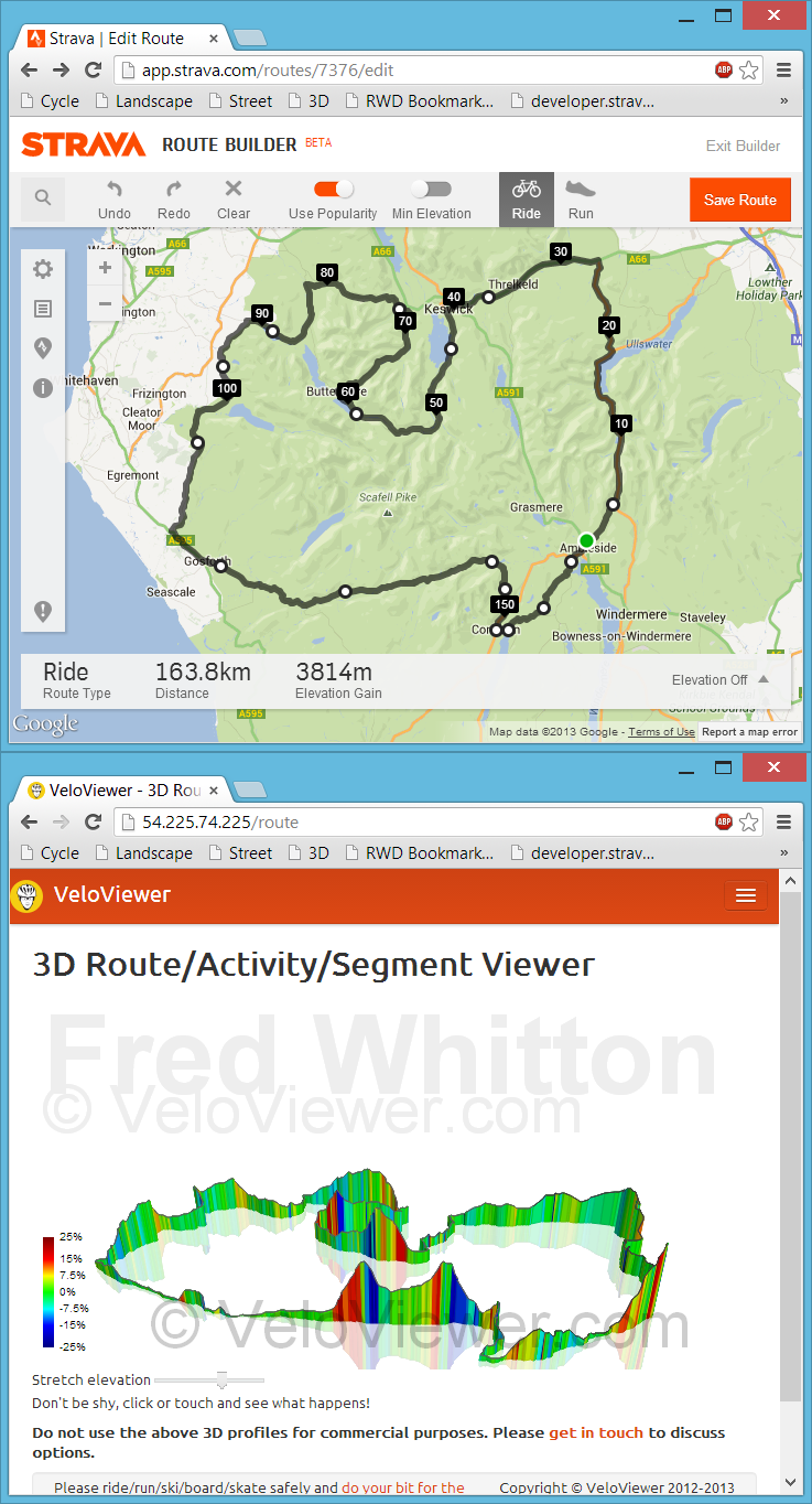 3D Strava/Garmin Connect/Ride With GPS Courses, Activities ...